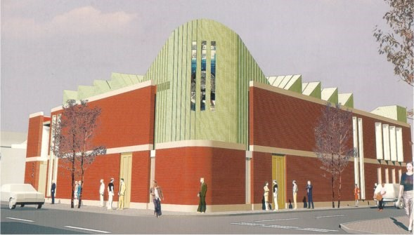 Artist's impression of the new Iron Hall Assembly church building